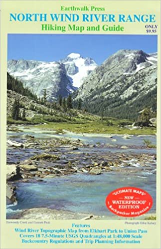 Northern California Map Of Mountain Ranges.Wind River Range Wy Northern Earthwalk Press 9780915749201 Books