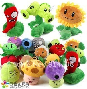 2012 new MIN Plants VS Zombies peluche toy pendant-wholesale 16piece