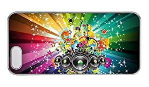 Customized iphone 5S customize cases Bright shining Vector Music PC Transparent for Apple iPhone 5/5S