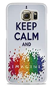 Keep Calm and Imagine Rainbow White Hardshell Case for Samsung Galaxy S6 by icecream design