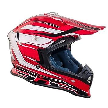 Casco Moto Cross Enduro One Racing Tiger rosso-bianco New 2015 Large