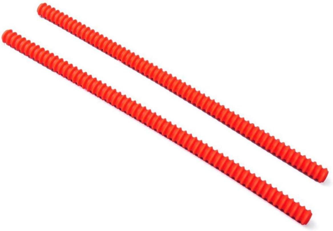 Sunnyflowk Silicona Roscado Resistente al calor Horno Rejilla Protector de borde Protector de la cubierta Horno Anti-Hot Bar Color aleatorio (rojo)