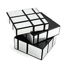 Silver Mirror Cube 3x3x3 Speed Magic Cube Twist Puzzle Intelligence Training Toy
