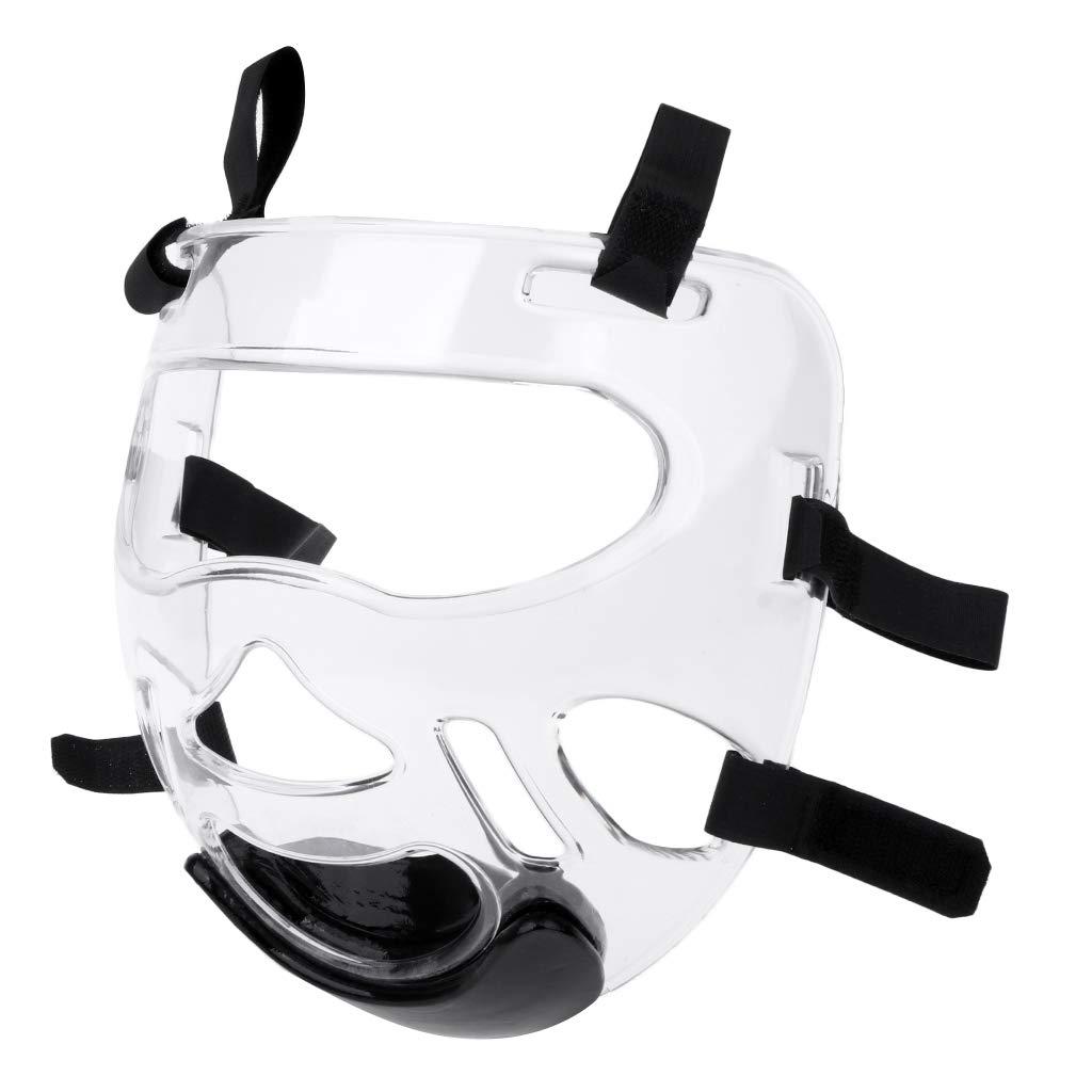 IPOTCH Protección Transparente de Mascarilla de Deportes al Aire Libre Máscara de Cara Clara de Taekwondo, Proporciona Visión Periférica Clara
