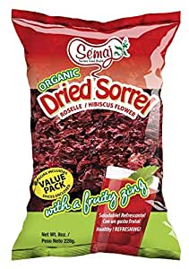 Dried Sorrel - 100% Natural - Always Fresh - Organic Dried Hibiscus - 4oz - 4 Pack - by Semaj Products USA