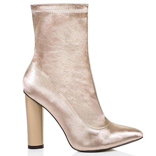 Mujer Botas Shoesdays Para 35 Dorado Negro Claro 5 dOqEwxqa8