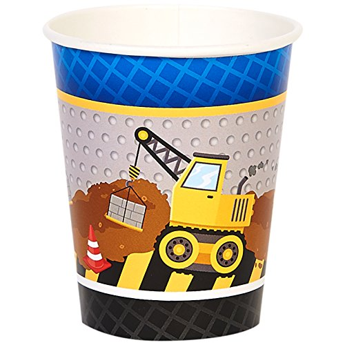 BirthdayExpress Construction Party Supplies 9 oz Paper Cups (8)