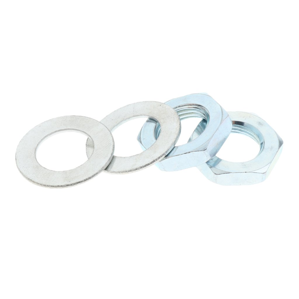 /& Washers 2pcs Homyl Quad Roller Skate Toe Stop Lock Nuts 2pcs