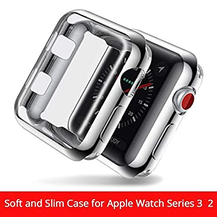 Amazon.com: BATOP Apple Watch Screen Protector || TPU Soft Cover for Apple Watch Series 2/3 Protective case for Apple Watch 38mm 42 mm Cover Film for Apple ...