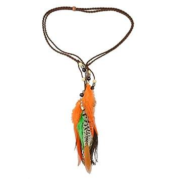 P Prettyia Haarband Von Pfauenfeder Bohmen Indian Hippie Madchen