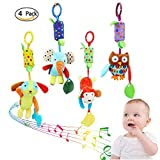 4 Pieces Baby Hanging Rattle Toys - Newborn Car Crib...