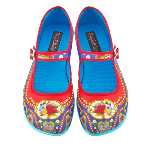 Hot Chocolate Design Chocolaticas Carousel Women's Mary Jane Flat Multicoloured HCD 38 from Hot Chocolate Design