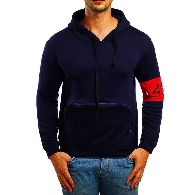 Yvelands Sudaderas con Capucha y Sudaderas para Hombres Grandes y Altas, Camisas para Hombres Ropa