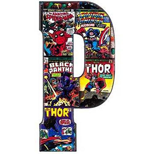 Superhero Marvel & DC Comics Embossed Tin Letter Sign (P (Marvel -