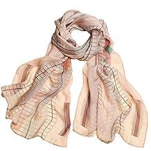 Ysiop Womens 100% Silk Scarves Lightweight Sunscreen Shawls and Beach Wraps