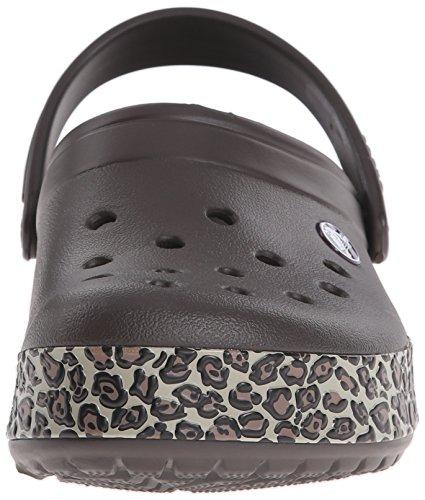 Crocs Crocband Animal Print - Zuecos de sintético para hombre Marrone (Espresso/Gold)