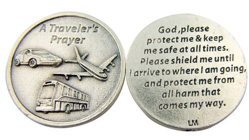 Pocket Token Gods (Religious Catholic Gift A Travelers Prayer God Protect and Shield Me Pocket Token by Religious Gifts)