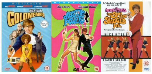 Austin Powers Shagadelic Box Austin Powers in Goldmember, Austin Powers 2 - the Spy Who Shagged Me, International...