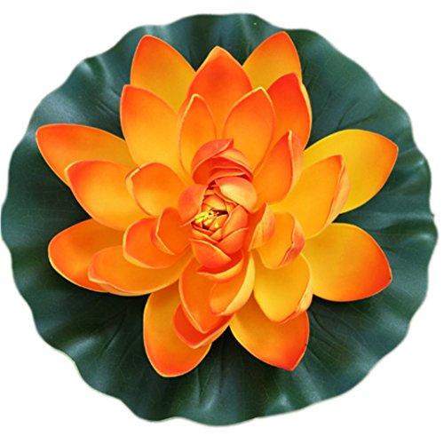 5-Colors-Artificial-Floating-Pond-Decor-Water-Lily-Lotus-Flower-for-Aquarium-Garden-Pond-Orange28cm