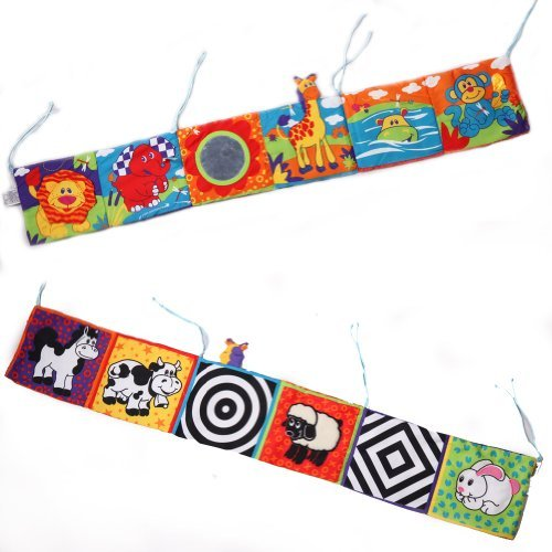 Askformore Baby Infant Kid High-contrast Puzzle Zoo Cloth Book Crib Gallery Toy Development