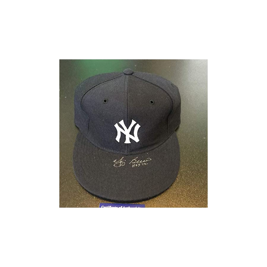 "Yogi Berra""HOF 1972"" Signed Game Model New York Yankees Hat COA PSA/DNA Certified Autographed Hats"
