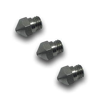 3 x letsprint3d MK10 – Acero inoxidable Boquilla/Nozzle 0,2 mm/1 ...