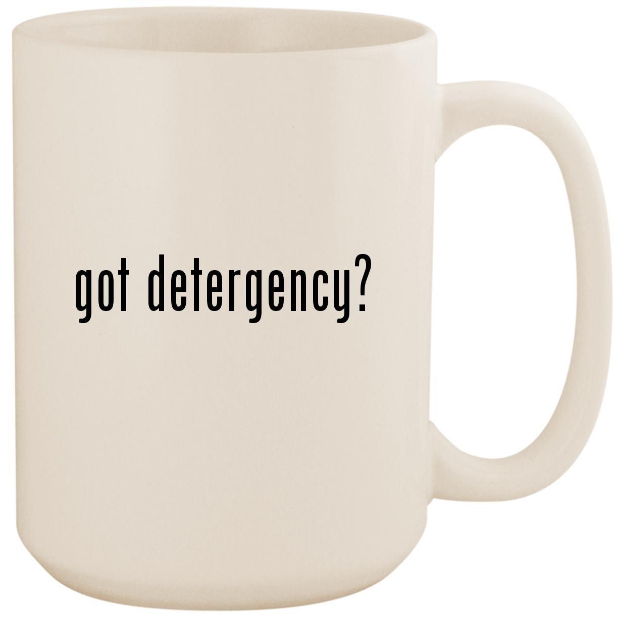 got detergency? - White 15oz Ceramic Coffee Mug Cup