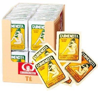 Carmencita Natural Herbs Tea. Pack of 200 individual tea bags.