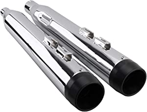 Harley Street Glide Exhaust Pipe - Classic Chrome Megaphone Slip On Mufflers Exhaust Pipe For 2017-2020 Harley Touring, Road King,Electra Glide, Street Glide, Road Glide, Ultra Classic