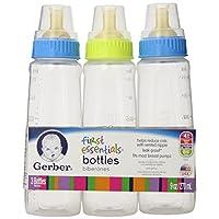Gerber First Essential Clear View Plastic Nurser With Latex Nipple, BPA Free,...