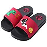 Anddyam Kids Family Household Anti-Slip Indoor Outdoor Home Slippers for Girls and Boys (US Little Kid (3-4 Years), Red)