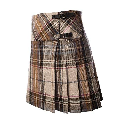 John Morrison Damen 12oz Wolle Scottish Tartan Billie Kilt - LA CHECK 6Xr9arz