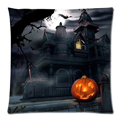Clearance! Happy Halloween Throw Pillow Covers Cushion Case Cotton Linen Sofa Home Decor 18 X 18 Inch (D)