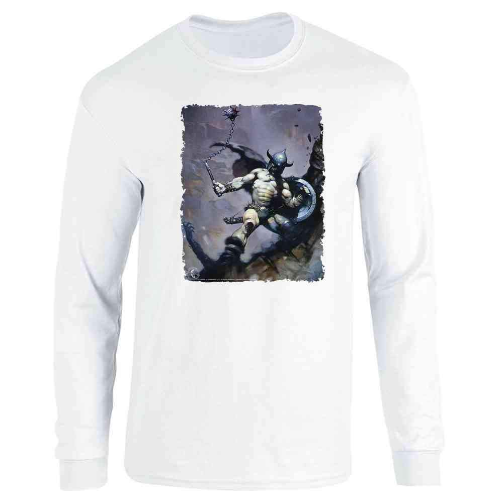 Warrior With Ball And Chain By Frank Frazetta Art Shirts