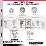 Semi Steel Cast Iron Swivel Threaded Stem Caster