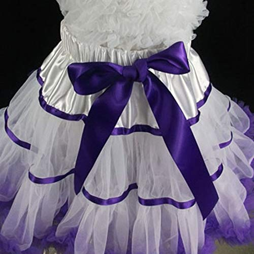 Tutu Princess Vestito Mallty Dance color Ragazza Da Pettiskirt Size 110cm Pieghe Tiered Gonna Tulle A Purple Ballet Fluffy wqqzX