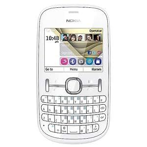 "Nokia Asha 201 - Móvil libre (pantalla de 2,4"", cámara 2 Mp, 32 MB de RAM, teclado QWERTY Español, S.O. S40 Asha) color blanco"
