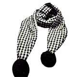 Yoyorule Lovely Winter Boys Girls Scarf Baby Warm Cotton Scarves (Black)