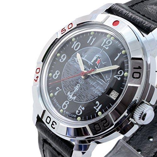Russian Movement Vostok Watch - Vostok Komandirskie Military Russian Watch U-boot Submarine Black 2414/431831