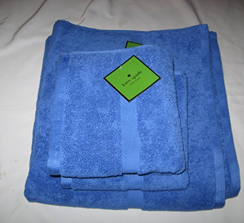 Kate Spade 3 Piece Bath Towel Set in Cobalt Blue
