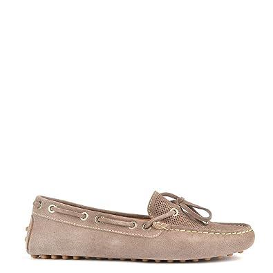Elia B Zapatos Aero Mocasines de Ante, Mujer 36 EU Taupe: Amazon.es: Zapatos y complementos