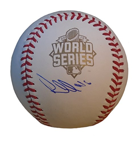 Kansas City Royals Paulo Orlando Autographed Hand Signed 2015 World Series Official Game Baseball with Proof Photo of Signing and COA- KC Royals - Official Baseball Series Autographed World