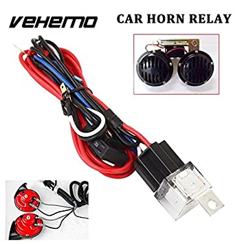 amazon com: vehemo automobile car relay kit wiring harness 30a with fuse  durable horn wire accessories professional: car electronics
