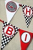 Race Car Birthday Banner Pennant