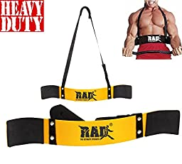 RAD Arm Blaster Body Building Bomber Bicep Curl Triceps Muscle Builder Yellow New
