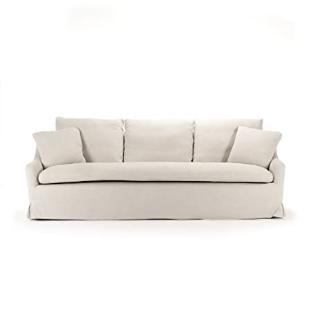 Rue Du Bac French Country Linen Slipcover Sofa