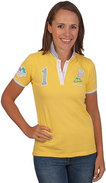 La Martina - Polo - Básico - para mujer amarillo 6: Amazon.es ...
