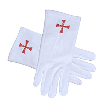 Masonic Order Of The Red Cross Symbol Gloves Cotton Knights Of