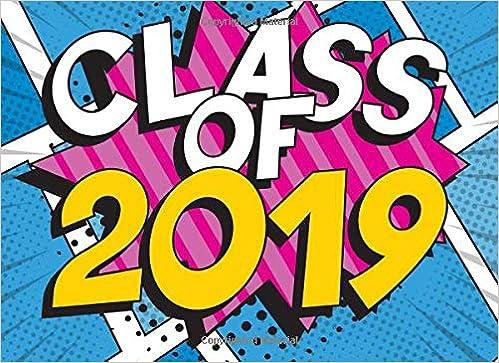 Class Of 2019: Comic Cover Design Message Guest Book, Keepsake