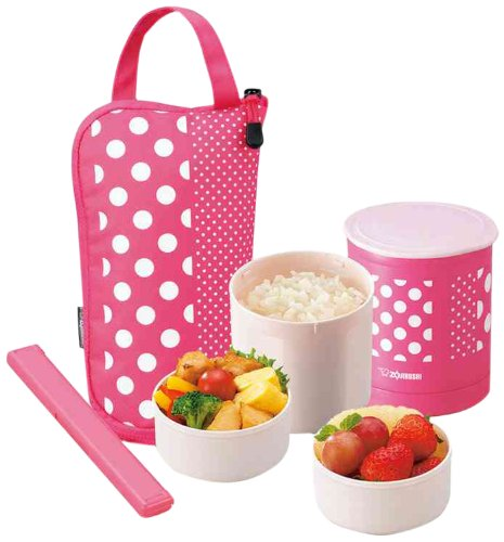 Zojirushi SZ-JA02PA Mini Bento Lunch Jar, Pink